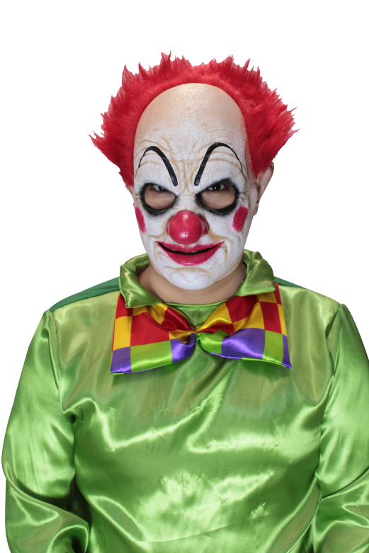 Headmask with Hair - Pickles the Clown Red