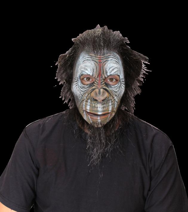 Face Mask with Hair - Blake War Ape