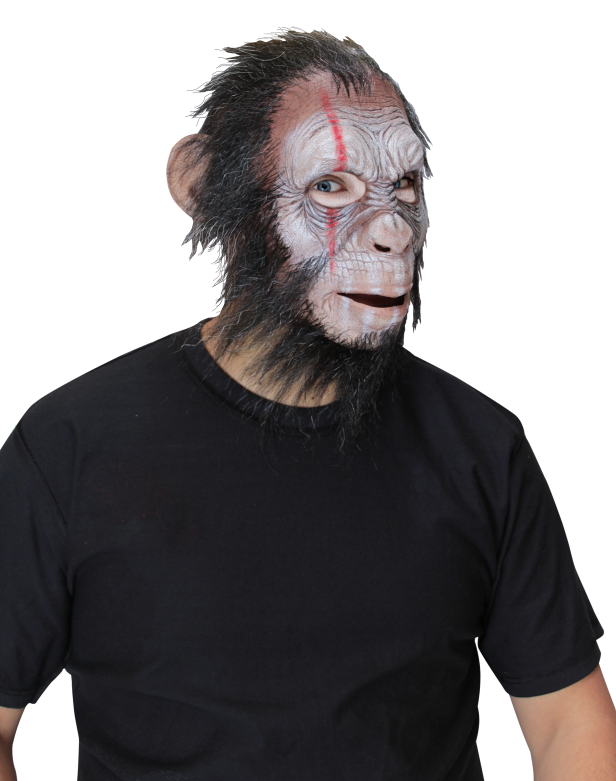 Face Mask with Hair - Julius War Ape