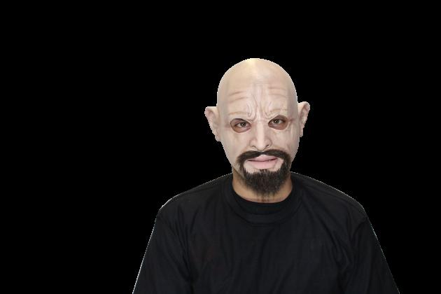 Face Mask with Hair - Derek