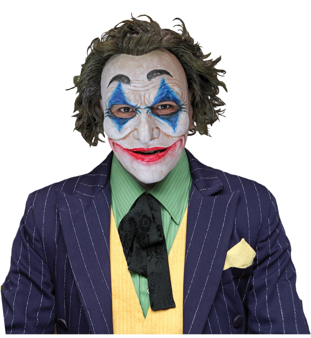 Face Mask with Hair - Crazy Jack Clown
