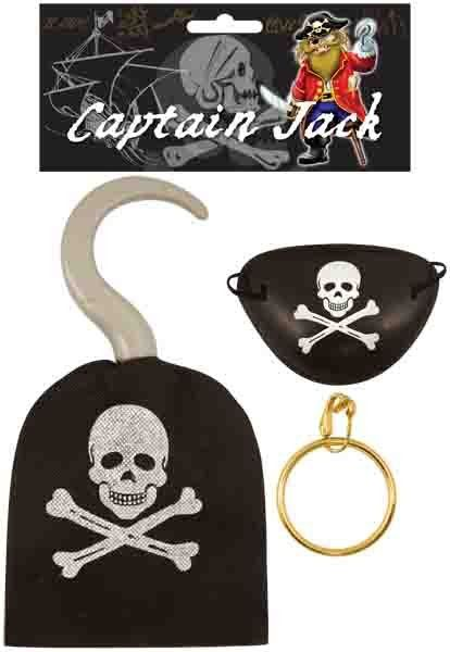 Pirate Hook 19CM with eyepatch and earring