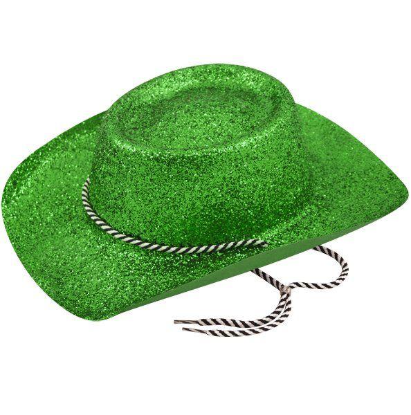 Cowboyhat Glitter Green