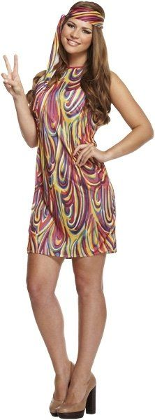 ADULT GROOVY GIRL one size  (ECONOMY) / 3XL
