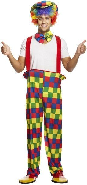 ADULT CLOWN RAINBOW  one size (ECONOMY) / 3XL