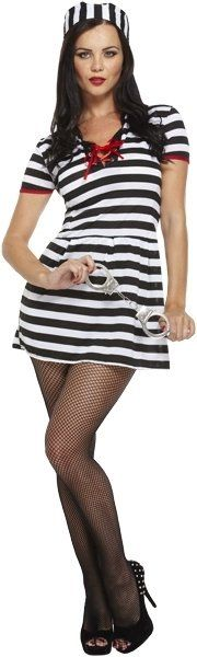 ADULT PRISONER FEMALE one size  (ECONOMY) / 3XL