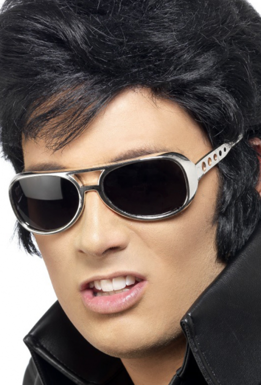 Elvis Glasses with Mirror Lens