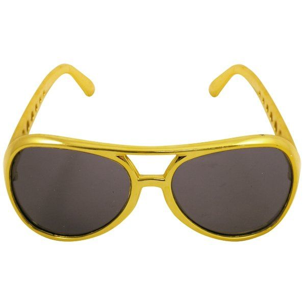 GLASSES ADULT GOLD DARK LENS