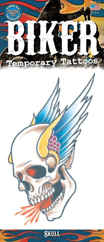 Biker Tattoo - Winged Skull