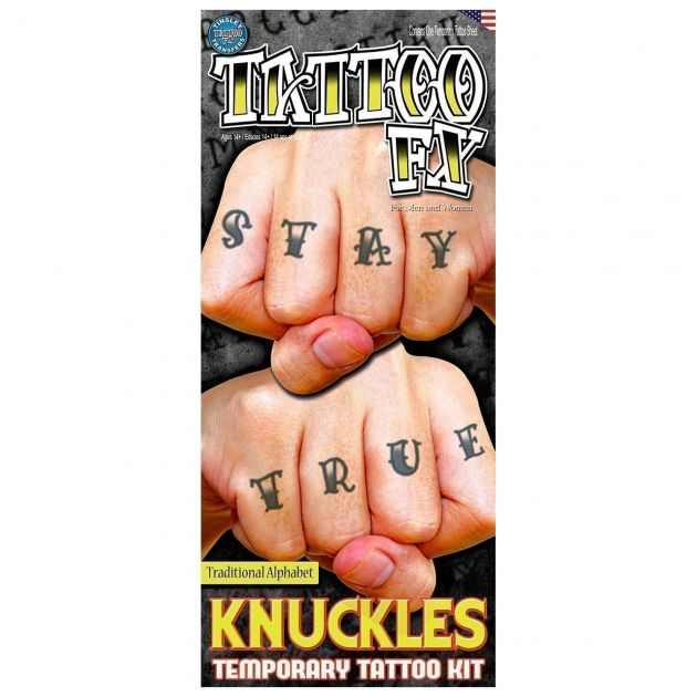 Costume Kits - Knuckles - Alphabet Traditional