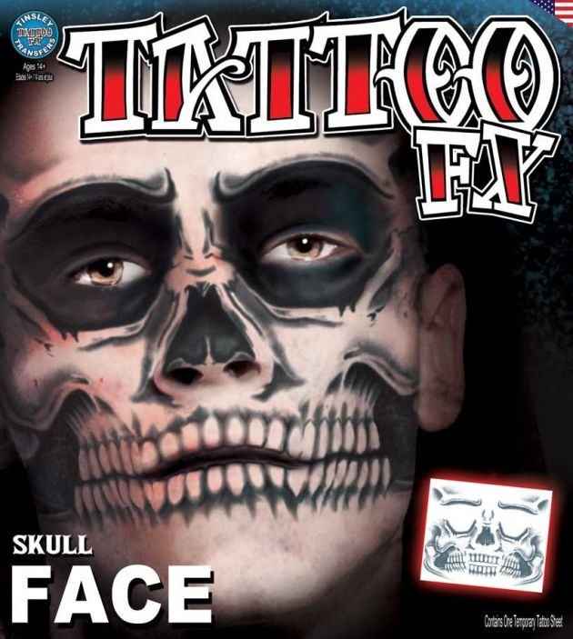 Costume Face Kits - Skull Face