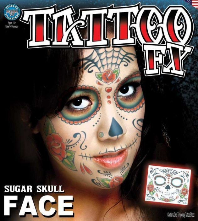 Costume Face Kits - Sugar Skull Face