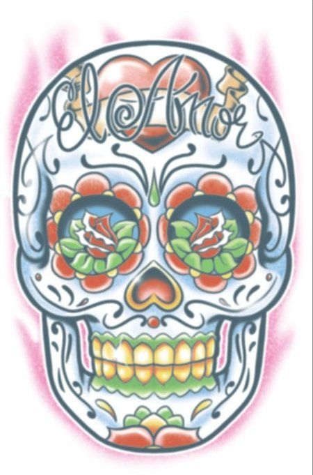 Day Of The Dead Tattoo  - El Amor