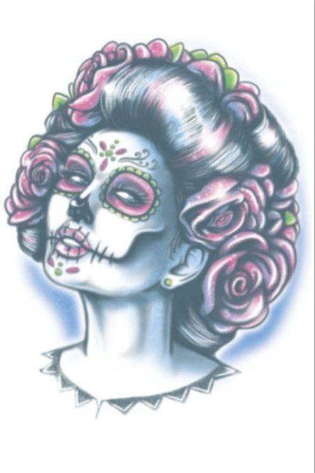Day Of The Dead Tattoo - Senora Muerte