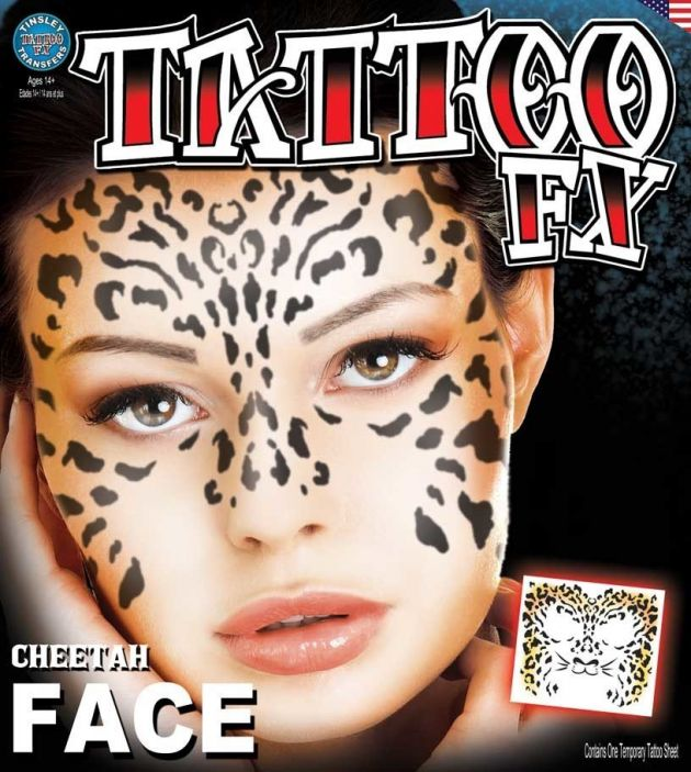 Costume Face Kits - Cheetah Face