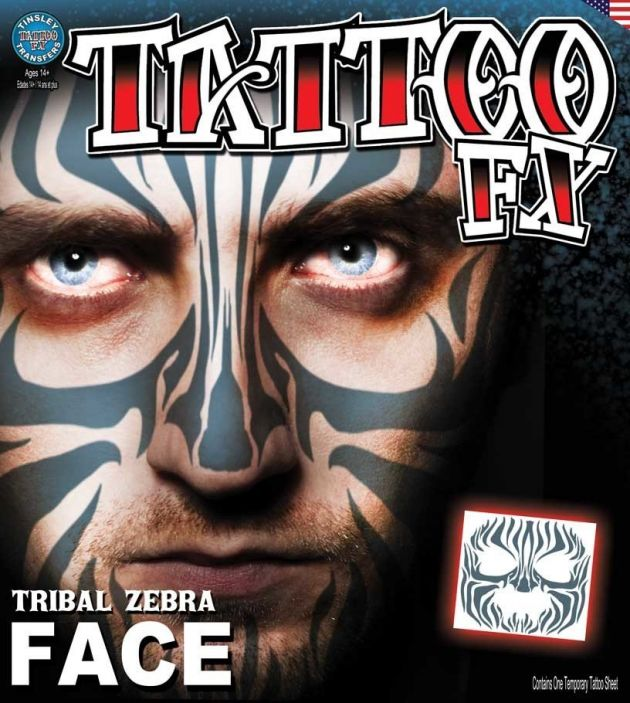 Costume Face Kits - Tribal Zebra Face