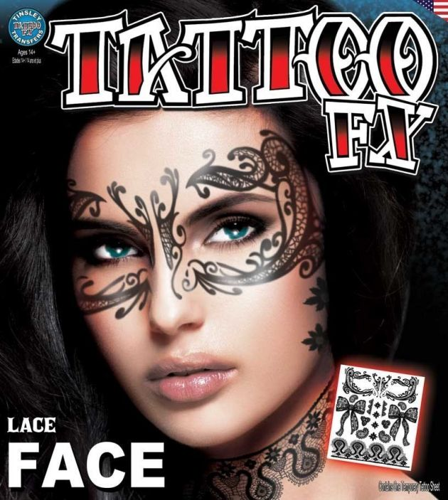 Costume Face Kits - Lace Face