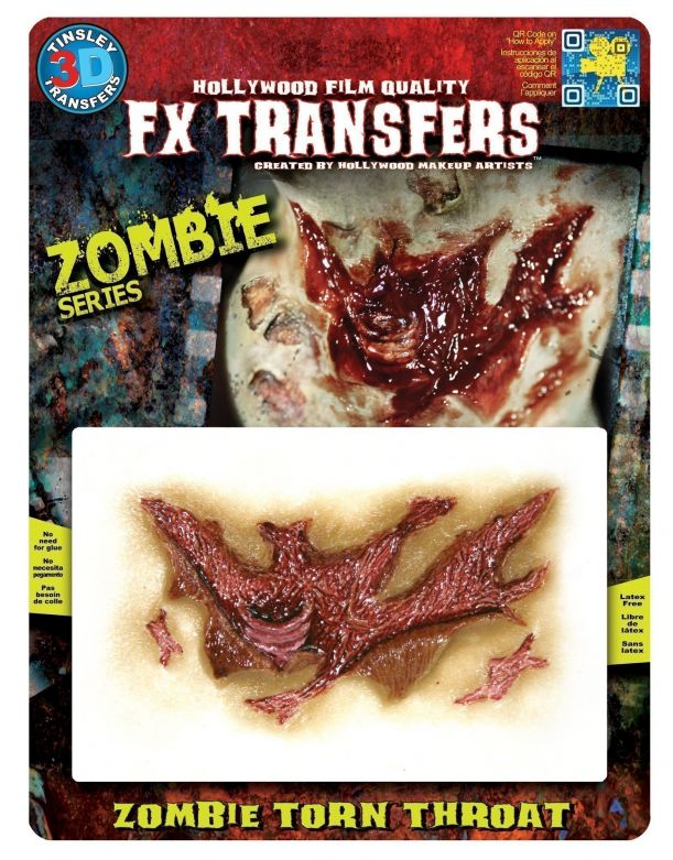 Zombie FX Transfers - Zombie Torn Throat