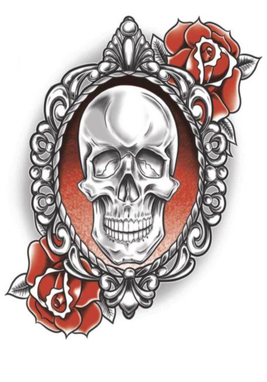 Goth Tattoos - Skull & Roses