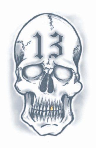 Prison Tattoos - 13 Skull
