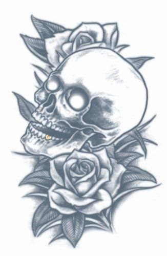 Prison Tattoos - Skull And Roses