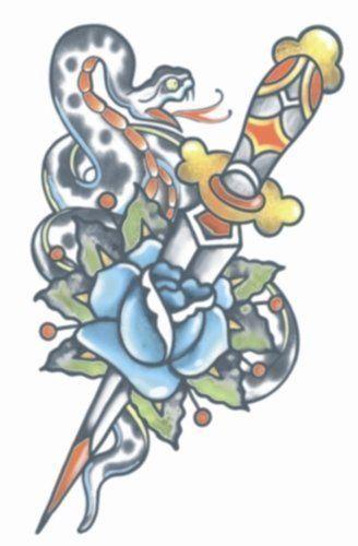 Vintage Tattoos - Snake/Dagger 1910