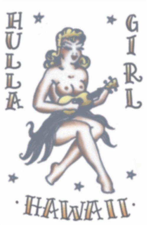 Vintage Tattoos - Hula Girl 1950