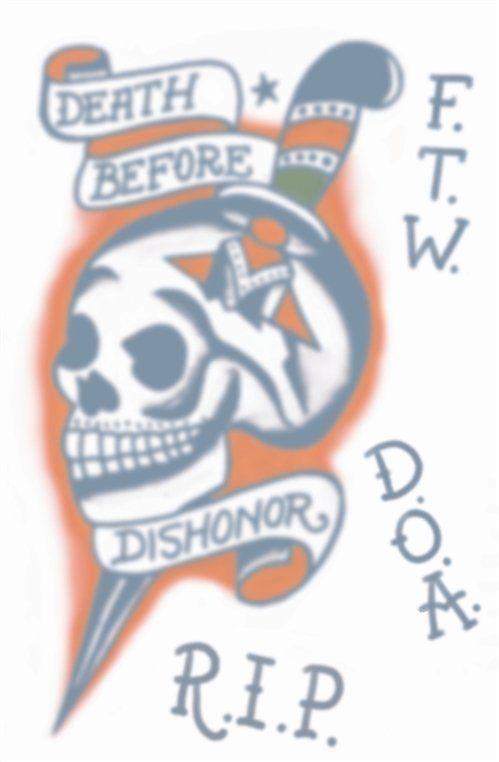 Vintage Tattoos - D.B.D. Skull