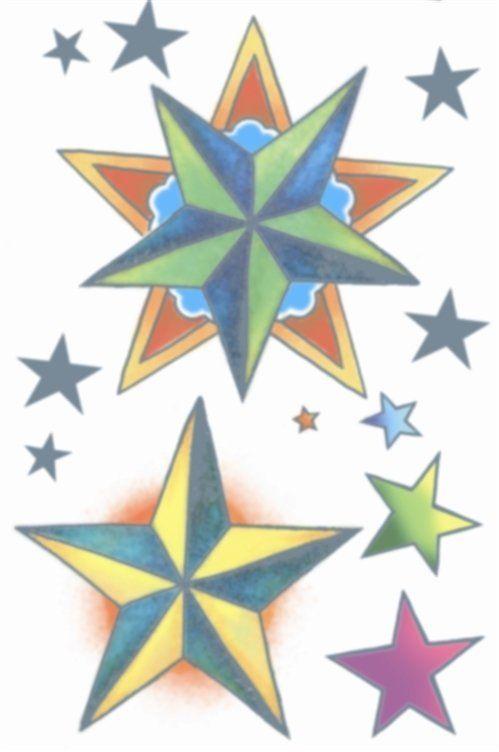 Vintage Tattoos - Nautical Stars