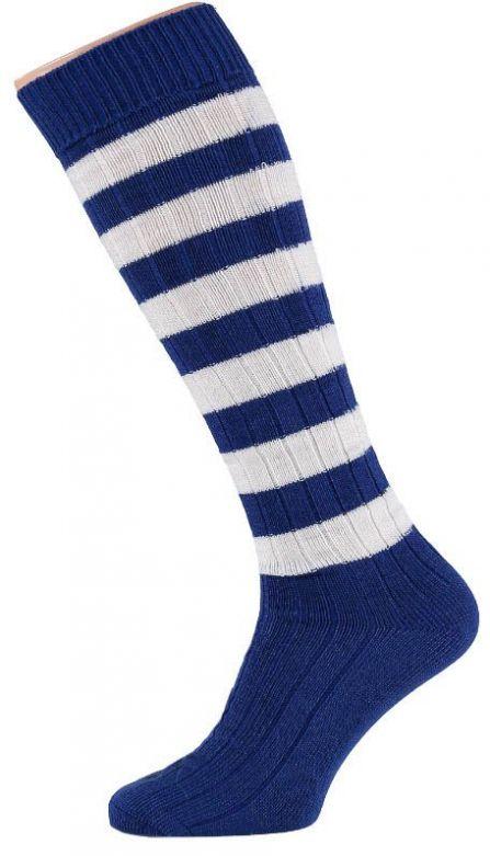 Carnaval Soccer Socks Kobalt Blue/White / 36-41