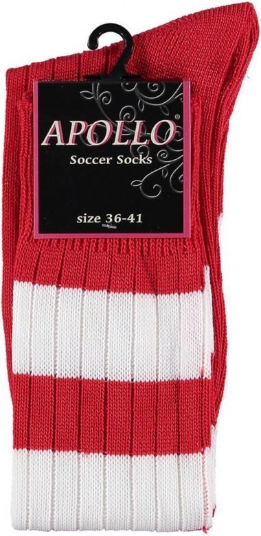Carnaval Soccer Socks Red/White / 36-41