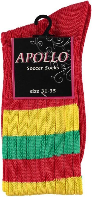 Carnaval Soccer Socks Red/Yellow/Green