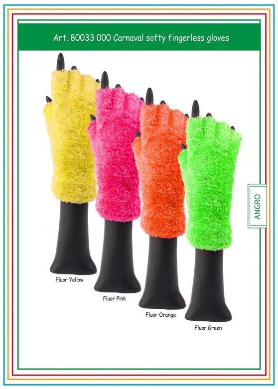 Carnaval Softy Fingerless Gloves Fluor Orange