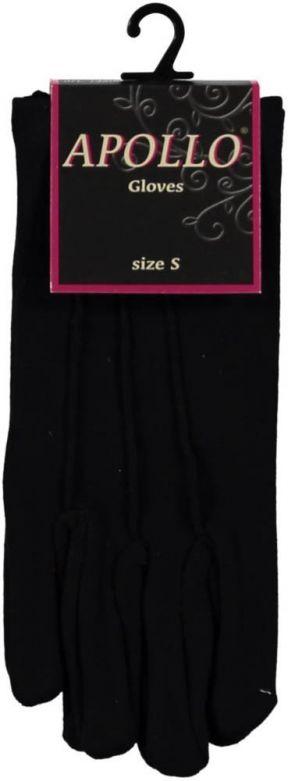 Cotton Gloves Short Black / XS