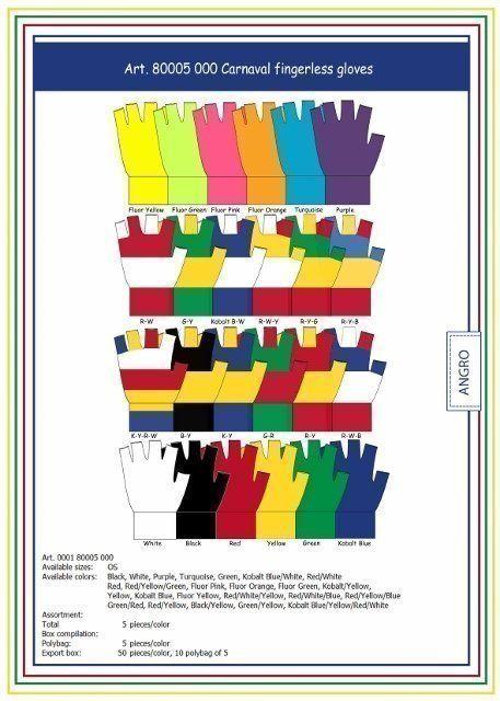 Carnaval Fingerless Gloves Red/White/Blue