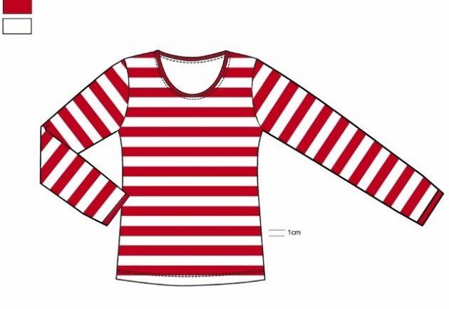 T-Shirt Long Sleeve ''Dorus'' Red/White