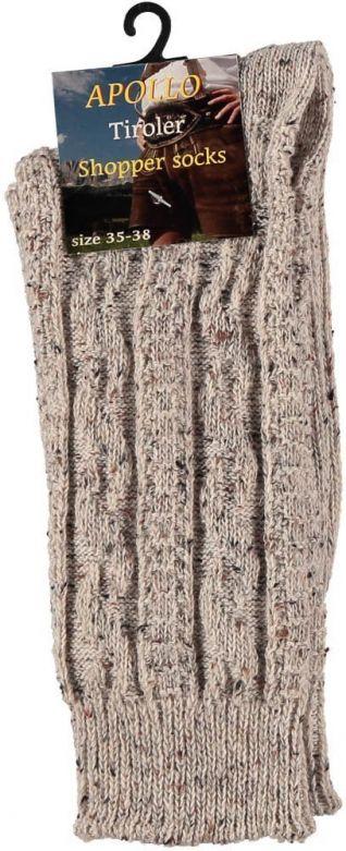 Tiroler Shopper Sokken Multi Beige / 43-46
