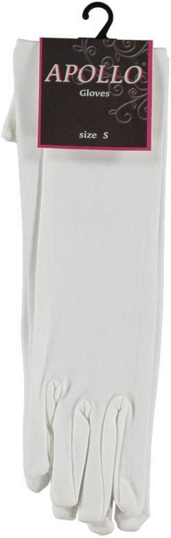 Nylon Gloves Long White / XS