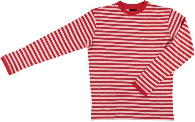 Carnaval T-Shirt Long Sleeve ''Dorus'' Red/White