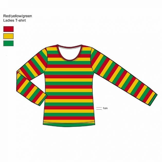 Carnaval shirt long sleeve Red/Yellow/Green