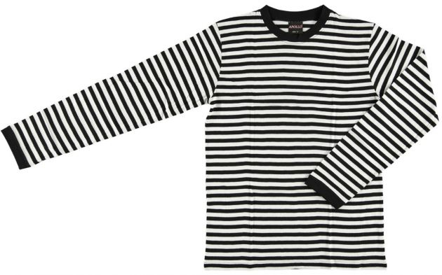 Carnaval T-Shirt Long Sleeve ''Dorus'' Black/White