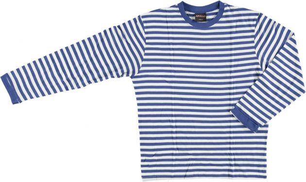 Carnaval T-Shirt Long Sleeve ''Dorus'' Blue/White