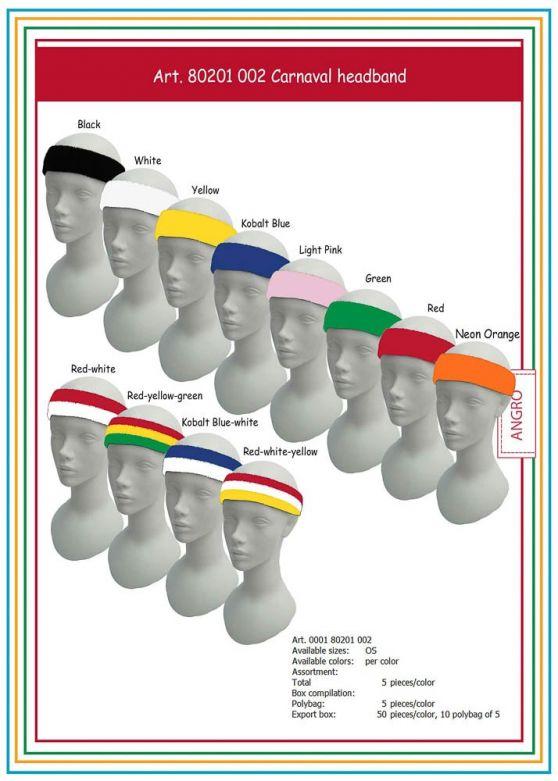 Carnaval Head-Band Kobalt Blue/White